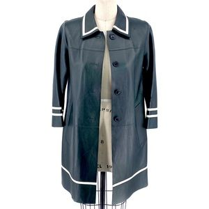 Marc Jacobs Collection Forest Green Leather Coat